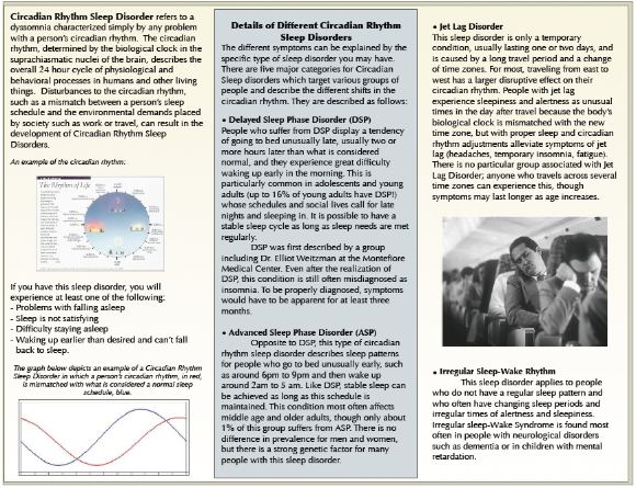circadian rhythm sleep disorders Brochure, page 2