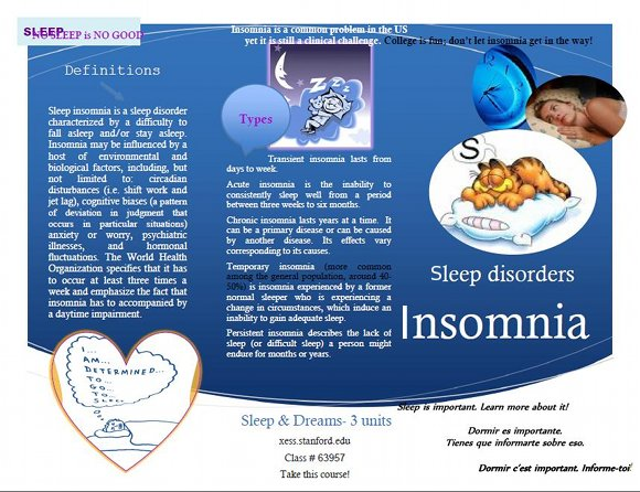 Do I Have Insomnia Brochure, page 1