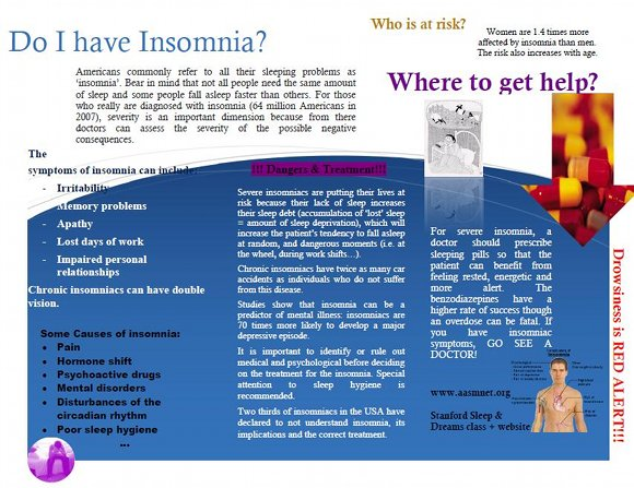 Do I Have Insomnia? Informational Brochure by Vaeme Afokpa
