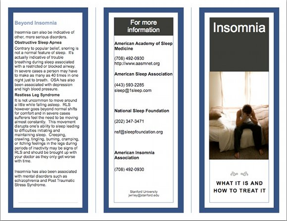 What Is Insomnia Brochure, page 1