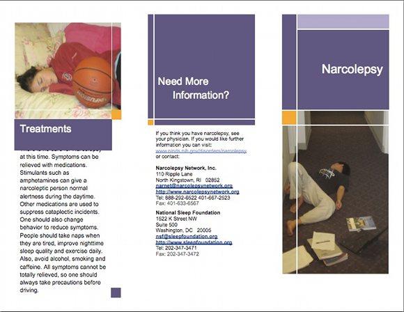 Narcolepsy Brochure, page 1