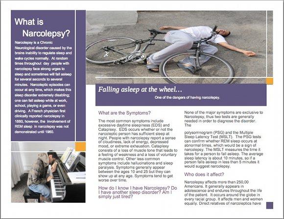 Narcolepsy Brochure, page 2