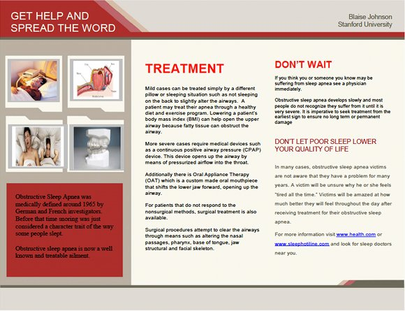 Sleep Apnea! What you need to know - NOW! Brochure, page 2