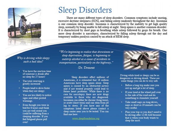 Sleep Disorders and Driving Brochure, page 2