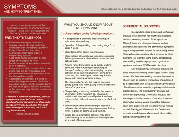 Sleepwalking - Do you know what you did last night? Brochure, page 2