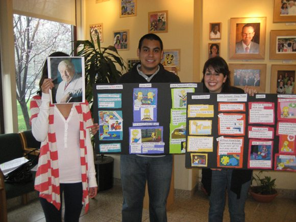 Maritza Urquiza and Jeffrey Garcia present at Menlo Atherton High School