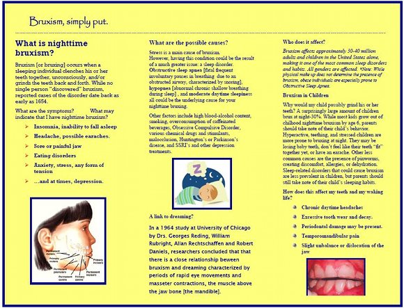 Bruxism Brochure, page 2