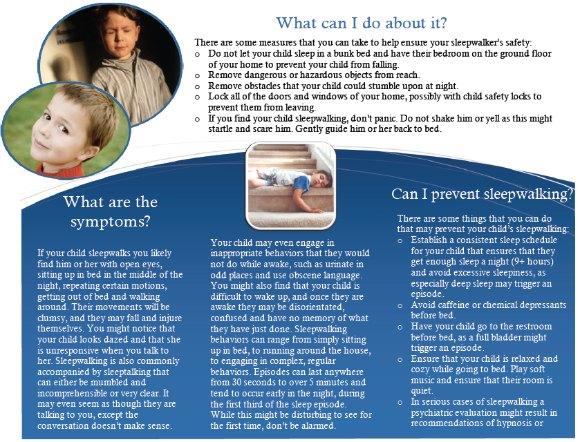 sleepwalking in children Brochure, page 2