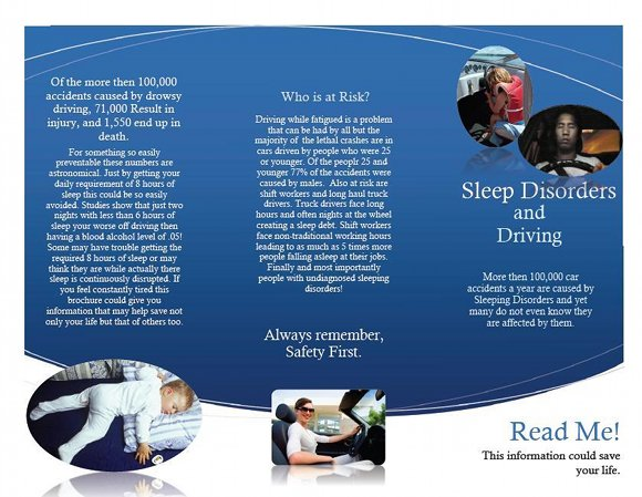 Sleep Disorders and Driving Brochure, page 1