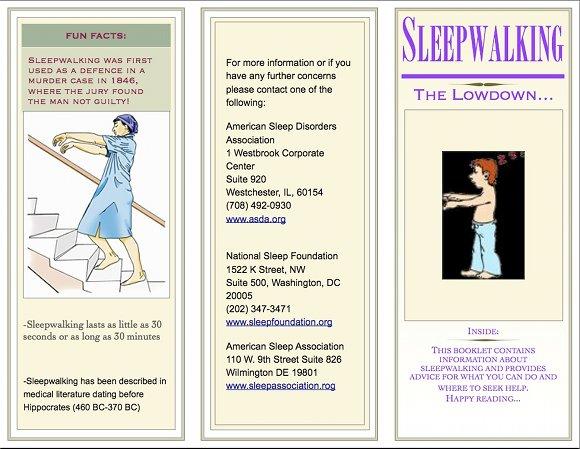 Sleepwalking Brochure, page 1