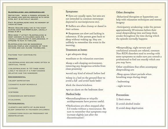 Sleepwalking Brochure, page 2