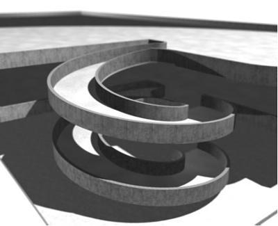 The spiral parking ramp